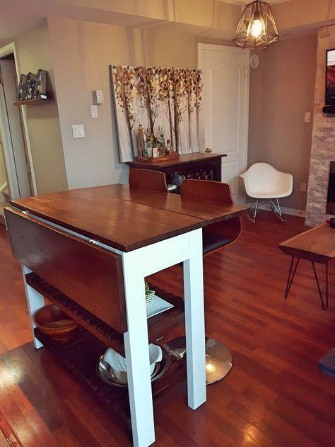 Diy Kitchen Island With Two Drop Leafs Drop Leaf Kitchen Island Small Kitchen Tables Kitchen Design Diy