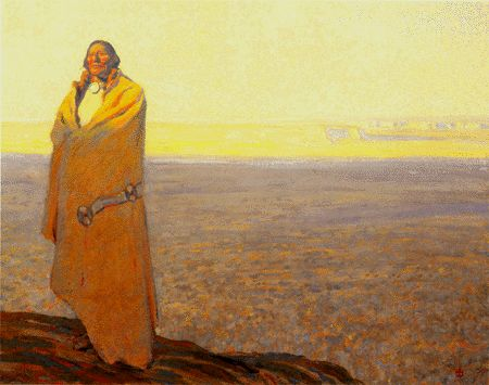 "maynard+Dixon   Maynard Dixon's ""What an Indian Thinks"""