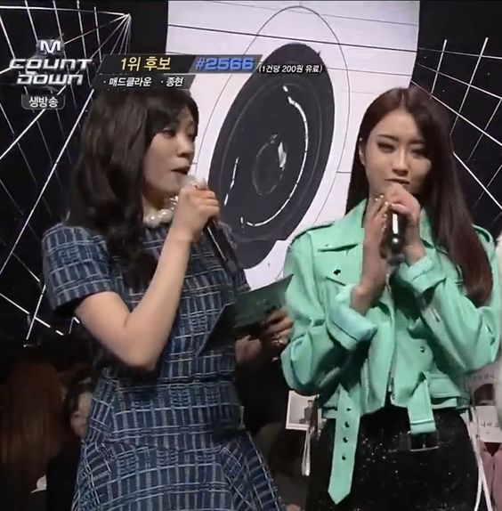 After School - Lizzy as MC on M! Countdown with Nine Muses Park KyungRi