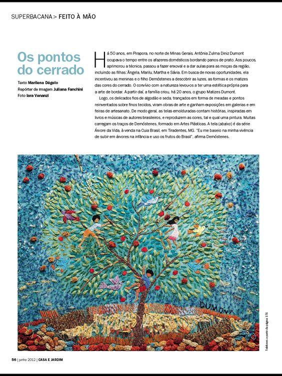 Matizes Dumont - Casa e Jardim 689 Junho de 2012: Feito a Mão