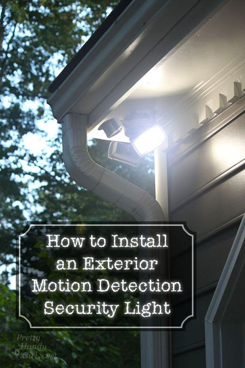 How to Install an Exterior Motion Detection Security Light. Yes, you can do it yourself, and feel safer around your own home!