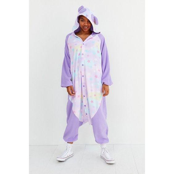Kigurumi Rainbow Panda Costume ($48) ❤ liked on Polyvore featuring costumes, panda halloween costumes, rainbow costume, urban outfitters halloween costume, urban outfitters and panda costume