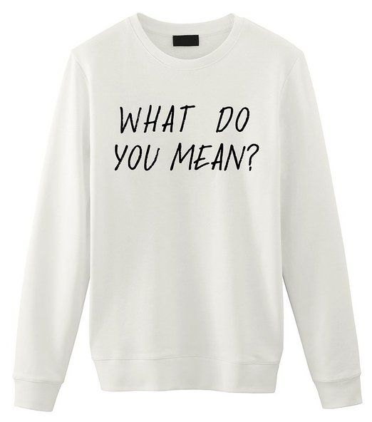 Fellow Friends - Justin Bieber | What Do You Mean? Unisex Sweater Small White