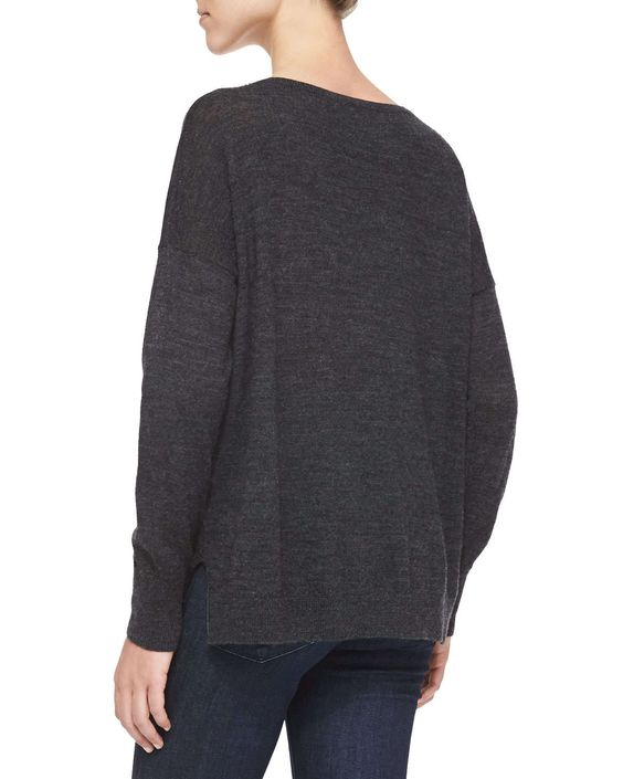 Polar Fun Knit Sweater, Dark Gray Melange