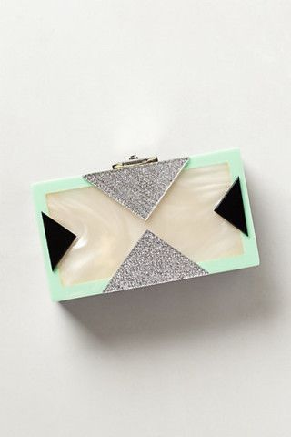 Mother-of-Pearl Box Clutch ...the mint clinched it for me