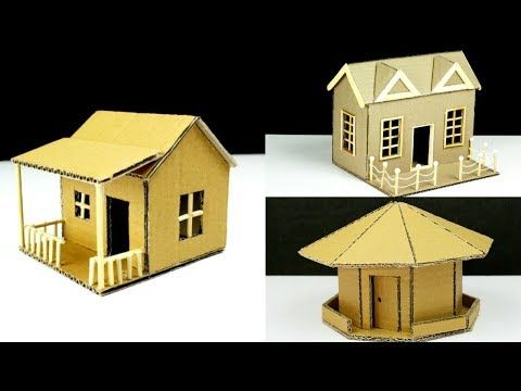 Top 3 Amazing Ideas From Cardboard At Home Youtube Cardboard House Paper House Template House Template