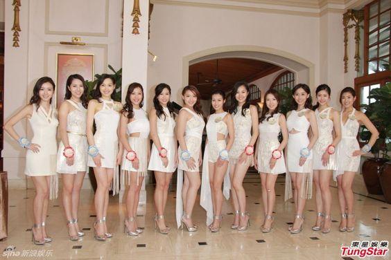 12名香港小姐候选佳丽