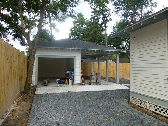 1 Car Garage And Carport Backyard Garage Carport With Storage Garage Design
