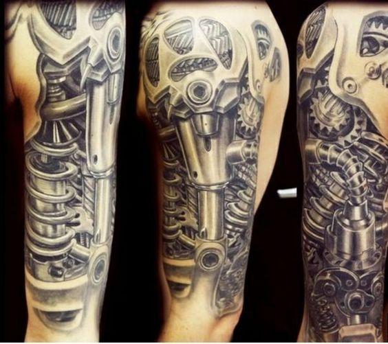 biomechanik tattoo r hren schl uche roboterhafte teile. Black Bedroom Furniture Sets. Home Design Ideas