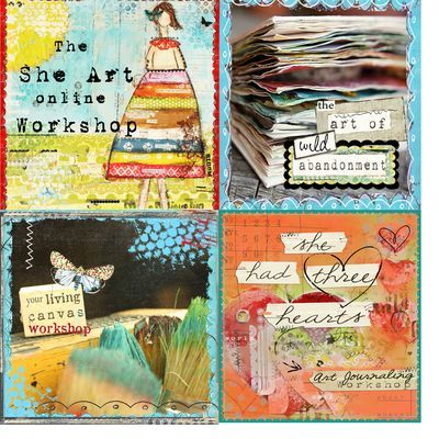 ONLINECLASSES  Christy's workshops are loads of fun & packed full of awesome art goodness.