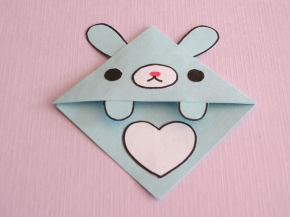 origami heart corner bookmark instructions