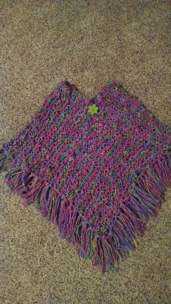 Two Piece Poncho Knit Pattern Found In Favecrafts Modified For A