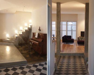 Carrelage : Résultats Google Recherche d'images correspondant à http://deco.journaldesfemmes.com/interieur/une-maison-rehabilitee/image/l-escalier-couloir-l-entree-708904.jpg