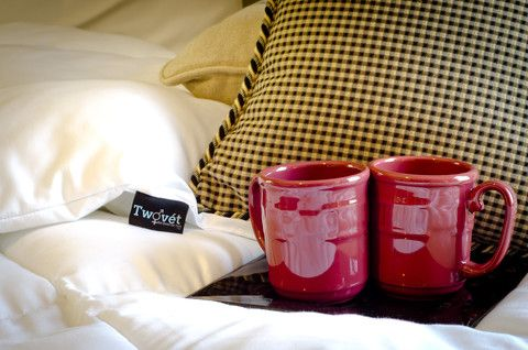 Since this comforter is made for couples, we thought it was fitting to create an image with two mugs...$219
