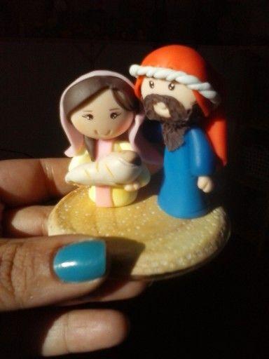 Mini presepio de biscuit