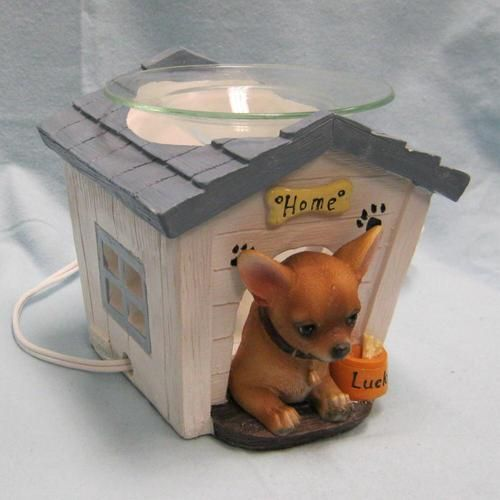 chihuahua dog houses chihuahua in dog house oil warmer figurine ebay 6231