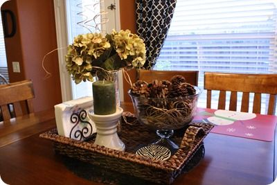 Kitchen table centerpiece love it decor ideas for Kitchen table arrangement ideas