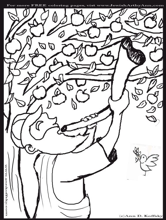 rosh hosanna coloring pages - photo#9