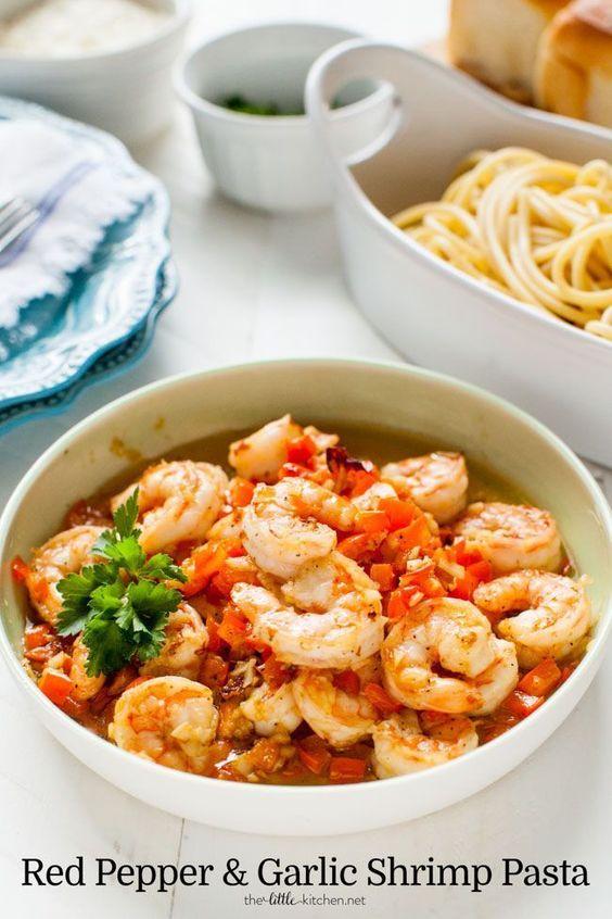 Pepper and Garlic Shrimp Pasta | Recipe | Garlic Shrimp Pasta, Shrimp ...