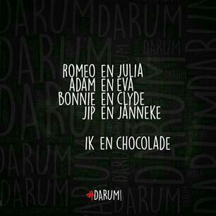 Ik en chocolade