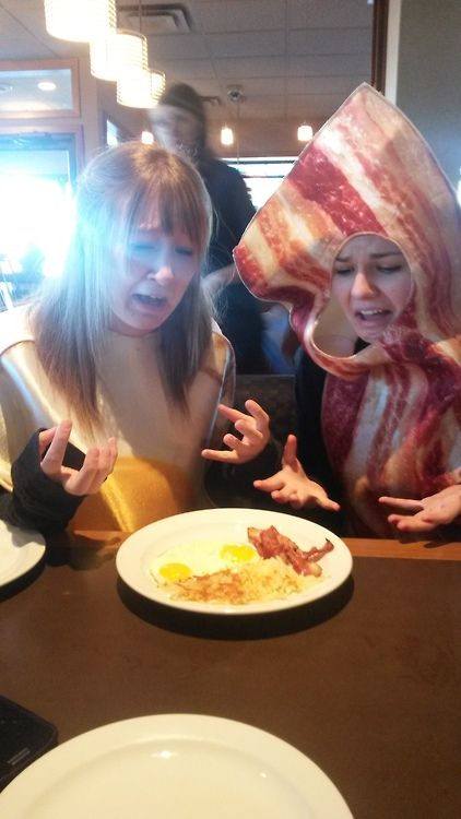 """""""Cannibalism at its finest. We visited Dennys for Halloween and the wonderful staff gave us a free meal for returning to the motherland. You rock Dennys  :)""""."""