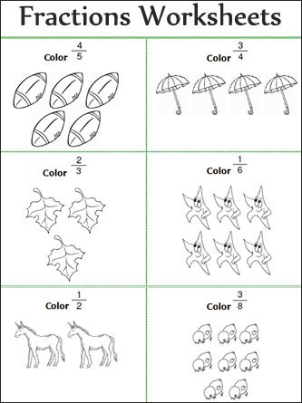 Fractions Quiz | Math worksheets, First grade math and Student