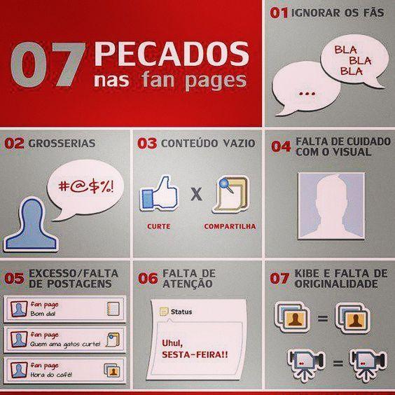 Tenha cuidado com suas mídias. #midiasocial #pecados #3b #agencia3b #revistaleaf #fanpage #facebook #empresa #job #like #follow #cuidado