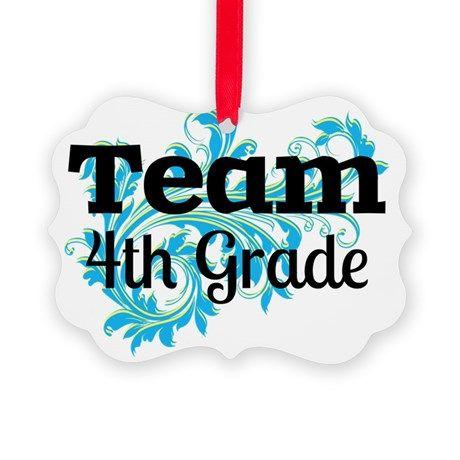 Team Fourth Grade Picture Ornament