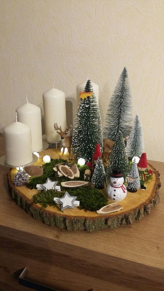 Ideias de Decoração de Natal em Madeira