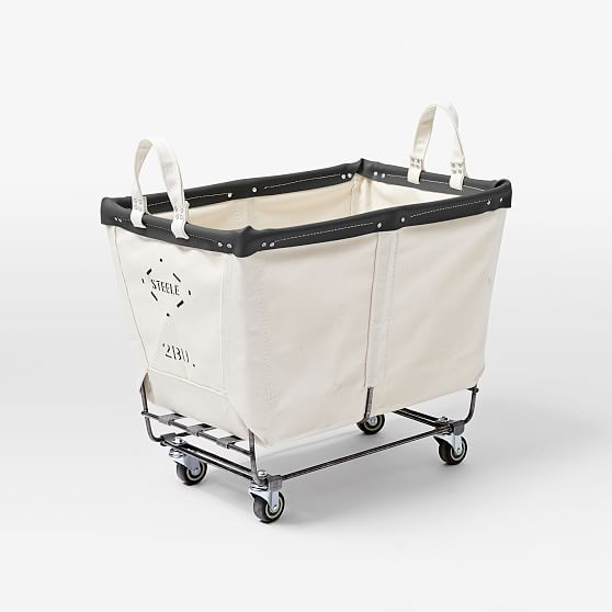 Steele Canvas Truck Small Hamper Storage Laundry Cart Canvas Storage