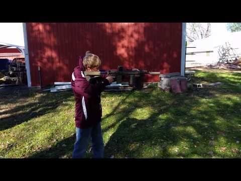 Dakota shooting AR15 with Surefire suppressor. - http://fotar15.com/dakota-shooting-ar15-with-surefire-suppressor/
