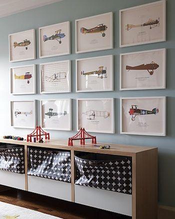 idée déco pour chambre d'enfant avec dessins de Paolo scanne et imprimé petit format