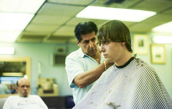 Noah get's a haircut.