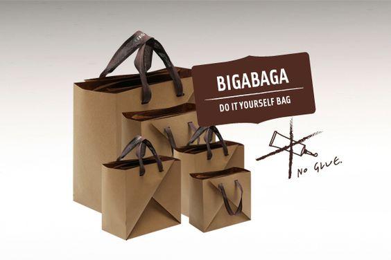 BIGABAGA, paper bag without glue, by Urška Hočevar