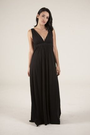 Gypsy 05 organic maxi dress black