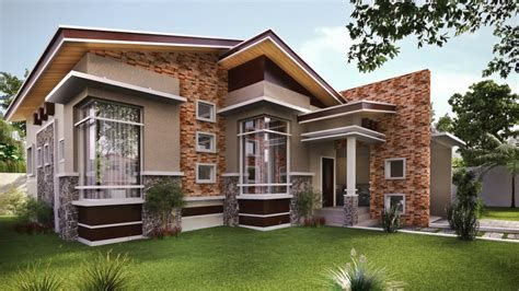 Modern Single Storey House Designs Bungalow Modern House Desain Rumah Bungalow Eksterior Rumah Desain Rumah Modern Small modern house design bungalow