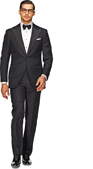 Old school peak lapel tuxedo  Looks so much better than the boxy rented tuxedos and only $469