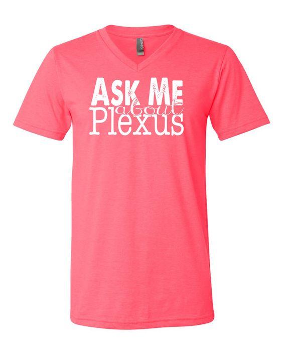 Ask Me about Plexus Unisex V-neck Neon Pink – Plexus Spirit