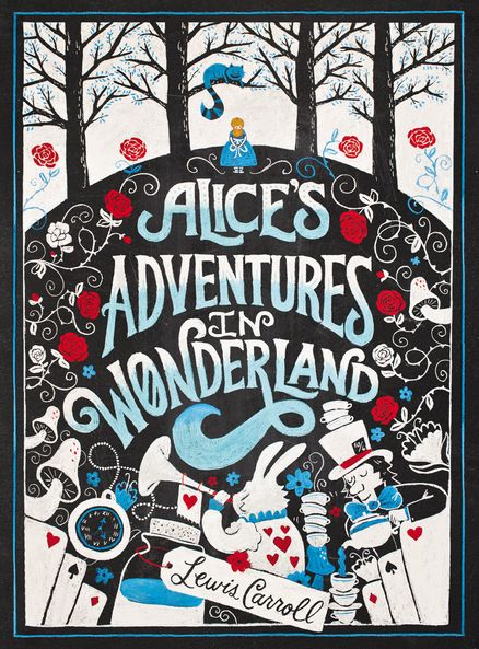 Sign-in book in book cover style of her liking:  Alyssa's Adventures in Wonderland
