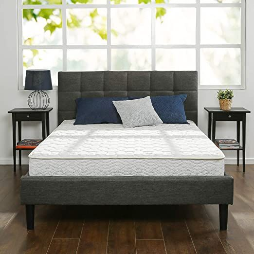 Zinus 8 Inch Foam And Spring Mattress Certipur Us Certified Foams Mattress In A Box King In 2020 Twin Mattress Zinus Mattress