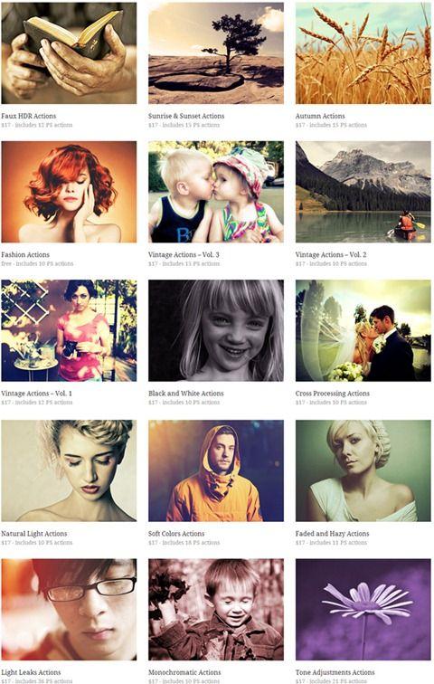 205 Acciones de Photoshop para la edición de fotografías