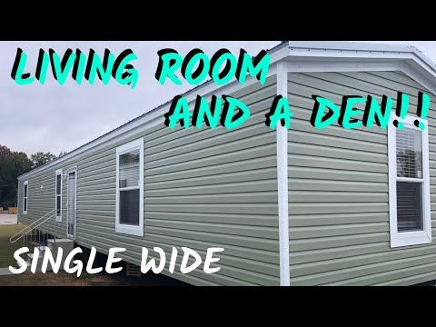 Single Wide Mobile Home With A Living Room And A Den 16x80 3 Bed 2 Bath Mobile Home Tour Youtu Single Wide Mobile Homes Single Wide Mobile Home Decorating