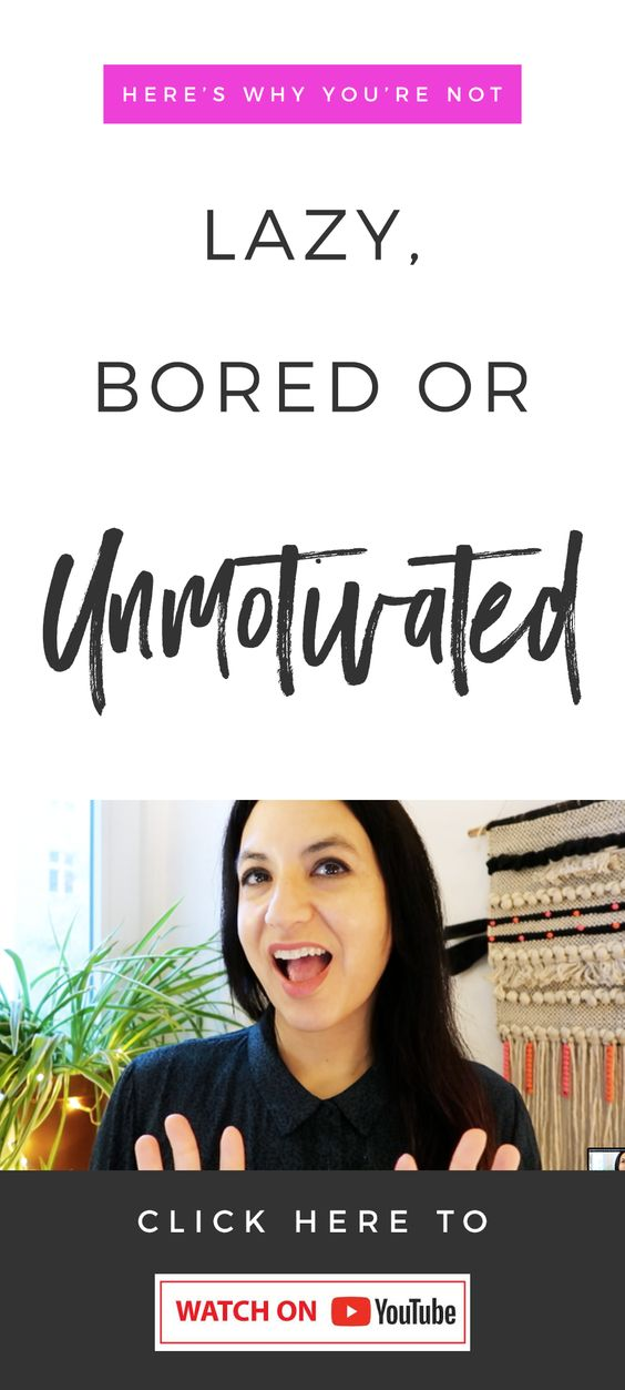 Real Motivational Advice! You're Not Lazy, Bored Or Unmotivated