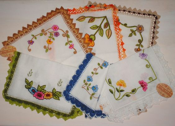 Knitting Embroidery Bordado : Crochet on pinterest