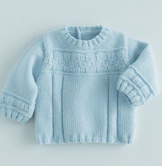 Un mix de point tricot pour ce pull brassi re uni mod le en laine et alpaga col rond motif sur - Point fantaisie tricot phildar ...