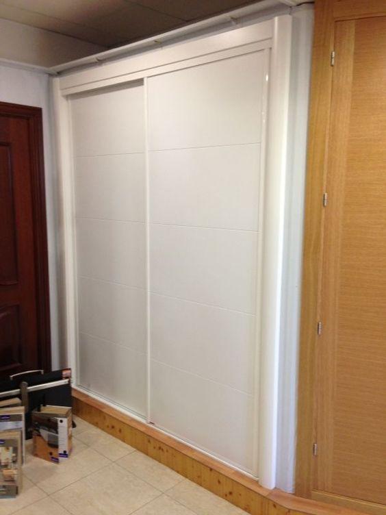 Frente de armario corredera modelo 5t16 lacado blanco - Armario blanco puertas correderas ...