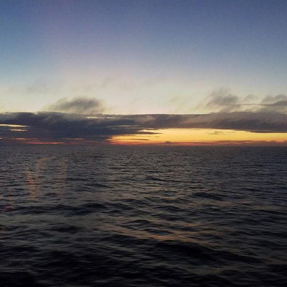 #sunset #sea #clouds #blue #orange #sunsetoversea #sailing @vikinglinesuomi #msmariella