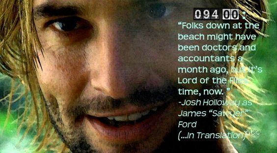 """Sawyer (Josh Holloway), """"Lost"""" (best TV show of all time)"""