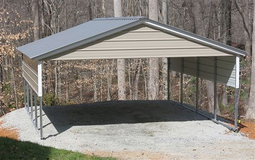 20x21 Vertical Style Metal Carport Alan S Factory Outlet Metal Carports Steel Carports Pergola