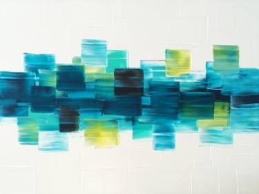 "Saatchi Art Artist Stephanie Rivet; Painting, ""Blue Green"" #art:"